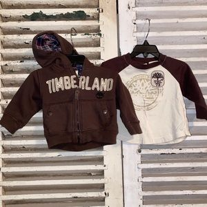 Timberland Fleece Jacket With Matching Shirt